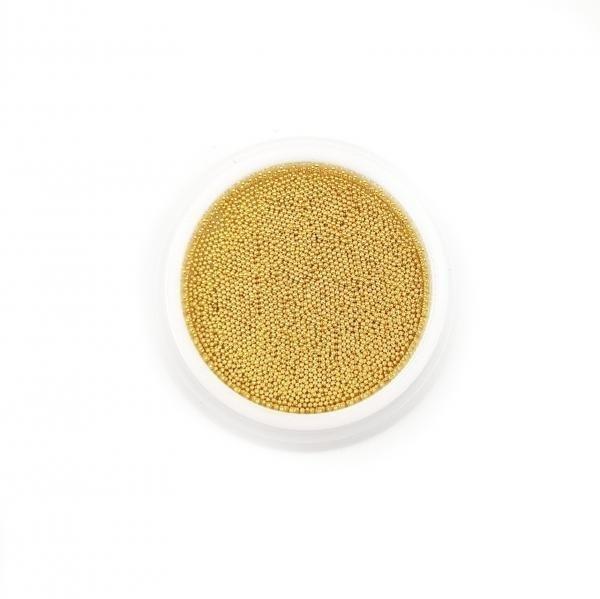 Micro Perlen KAVIAR 0.6mm - GOLD 5g