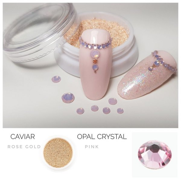 Opal Crystals SS4 PINK 50st.