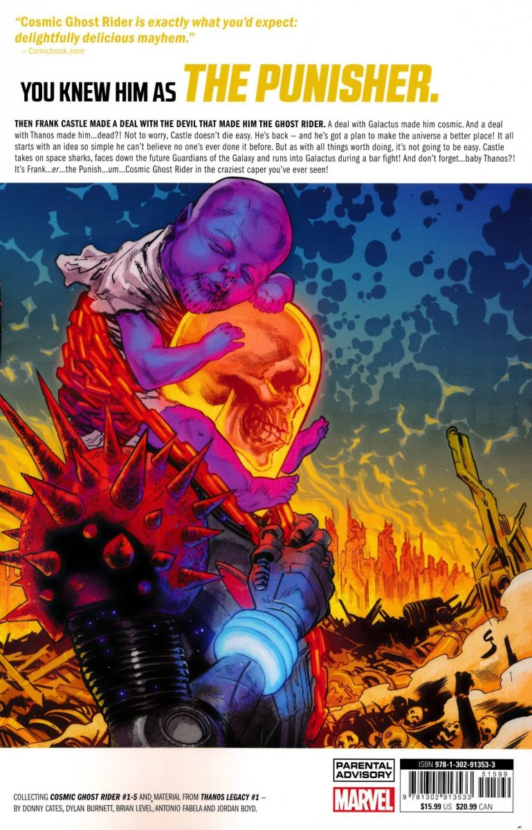 Oferta ekspozycyjna: COSMIC GHOST RIDER TP BABY THANOS MUST DIE