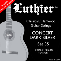 Struny LUTHIER 35 Concert Dark Silver Medium/Hard