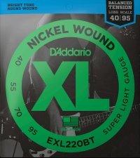 Struny D'ADDARIO XL Nickel Wound EXL220BT (40-95)