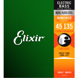 Struny do basu 5str ELIXIR Nickel Plated (45-135)
