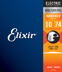 Struny ELIXIR NanoWeb Nickel Plated (10-74) 8str