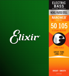 Struny do basu ELIXIR NanoWeb Nickel (50-105)