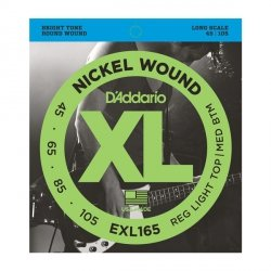 Struny D'ADDARIO XL Nickel Wound EXL165 (45-105)