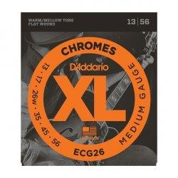 Struny D'ADDARIO Chromes Flat Wound ECG26 (13-56)