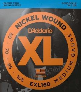 Struny D'ADDARIO Nickel EXL160 (50-105)