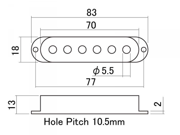 Osłony single-coil 52mm HOSCO OD-ST-SET (WH)