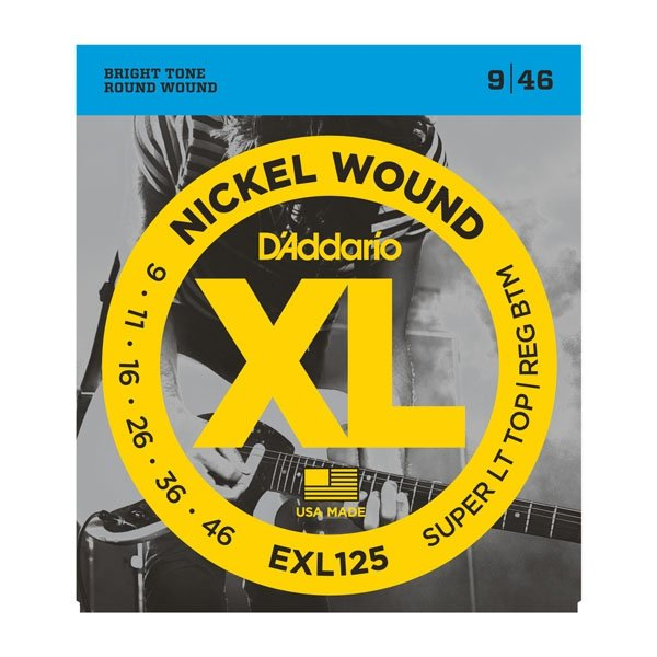 Struny D'ADDARIO XL Nickel Wound EXL125 (09-46)