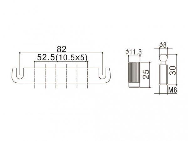 Aluminiowy zaczep strun GOTOH 510FA (BK)