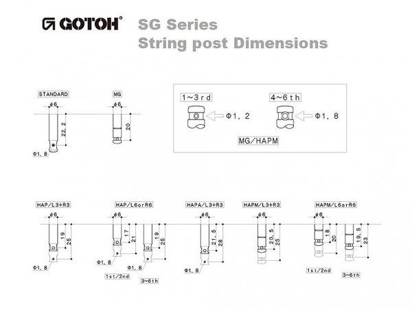 Klucze do gitary GOTOH SG381-07 (CR,3+3)