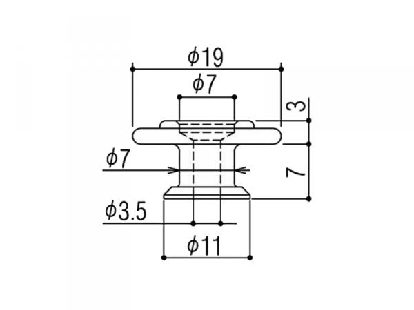 Docisk strun do basu GOTOH RB30 (BK)