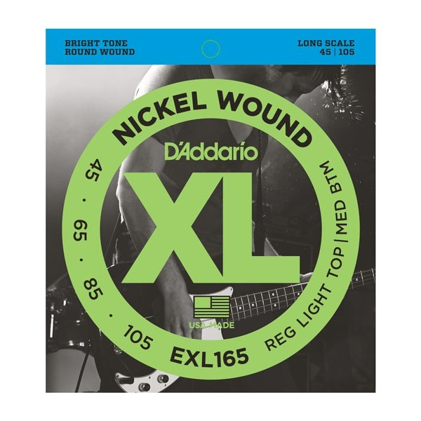 Struny D'ADDARIO XL Nickel Wound EXL165 (45-105)