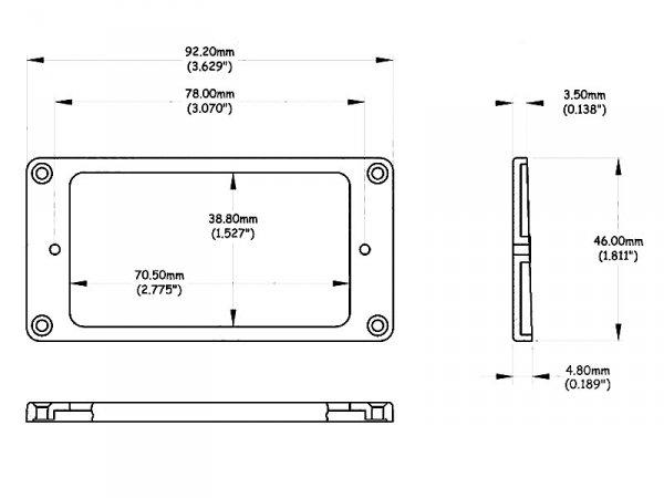 Skośna, niska ramka VPARTS HR-30F (CRE)