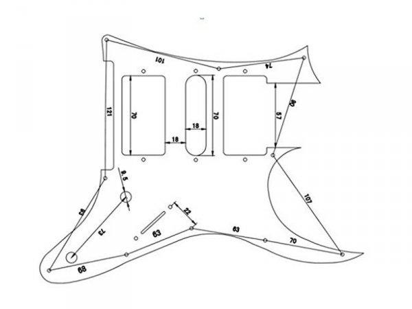 Pickguard VPARTS PG-RG1 (BK)