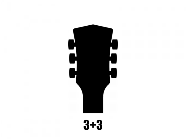 Klucze do gitary GROVER Sta-Tite Mini 608 (GD,3+3)