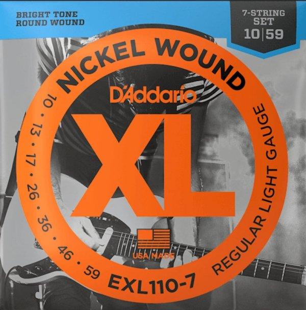 Struny D'ADDARIO XL Nickel EXL110-7 (10-59) 7str.
