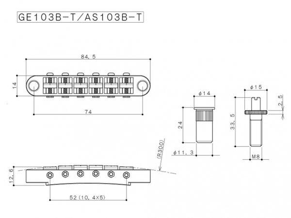 Aluminiowy zaczep strun GOTOH GE101A-T (BK)