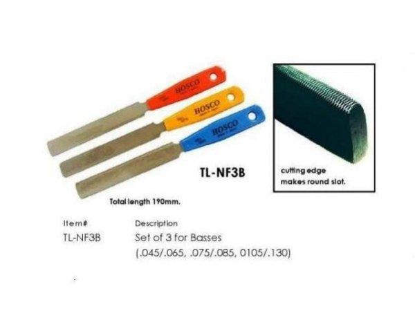 Pilniki do siodełek gitar basowych HOSCO NF3B