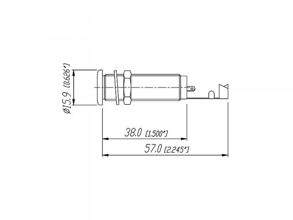 REAN NYS2203 cylindryczne gniazdo jack (stereo)