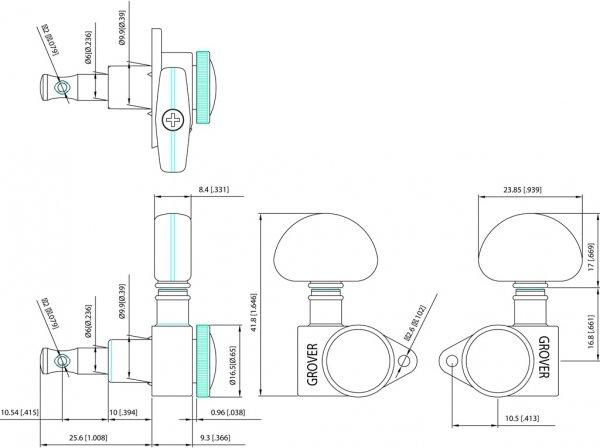 Klucze blokowane GROVER Roto-Grip 502 (GD,3+3)