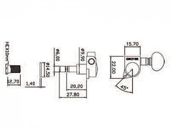 Klucze blokowane GROVER Mini Roto 406 (CR,6L)
