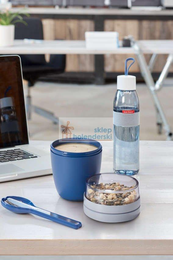 Pojemnik na Lunch Pot Elipse podwójny na jogurt, musli lub zupę biały zdj.5