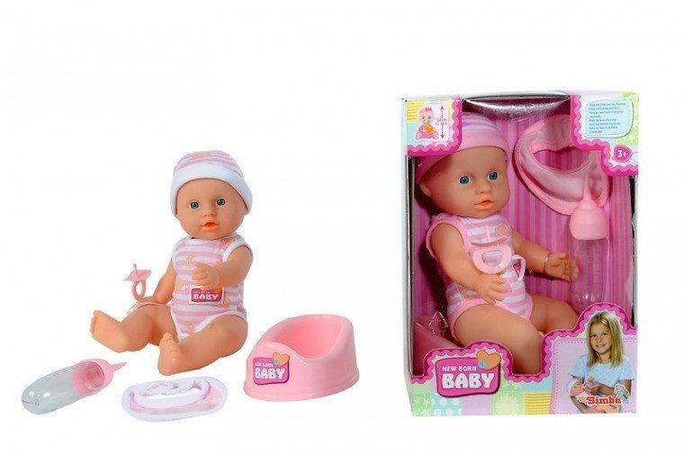 Simba New Born Baby, Lalka Funkcyjna, 30 cm, 2 rodzaje