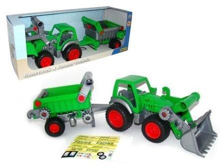 WADER-POLESIE Pojazd Traktor ładowarka z naczepą