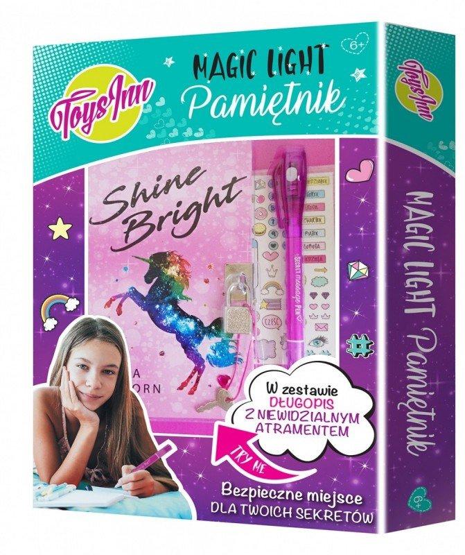 Pamiętnik Magic Light Unicorn - zestaw