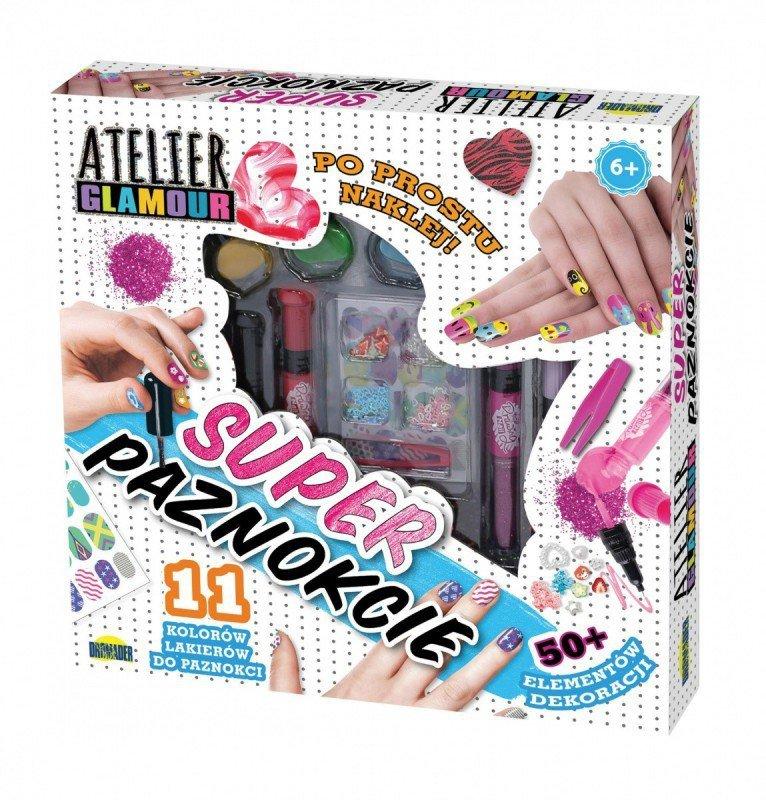 Dromader Zestaw do manicure Atelier Glamour - Super paznokcie