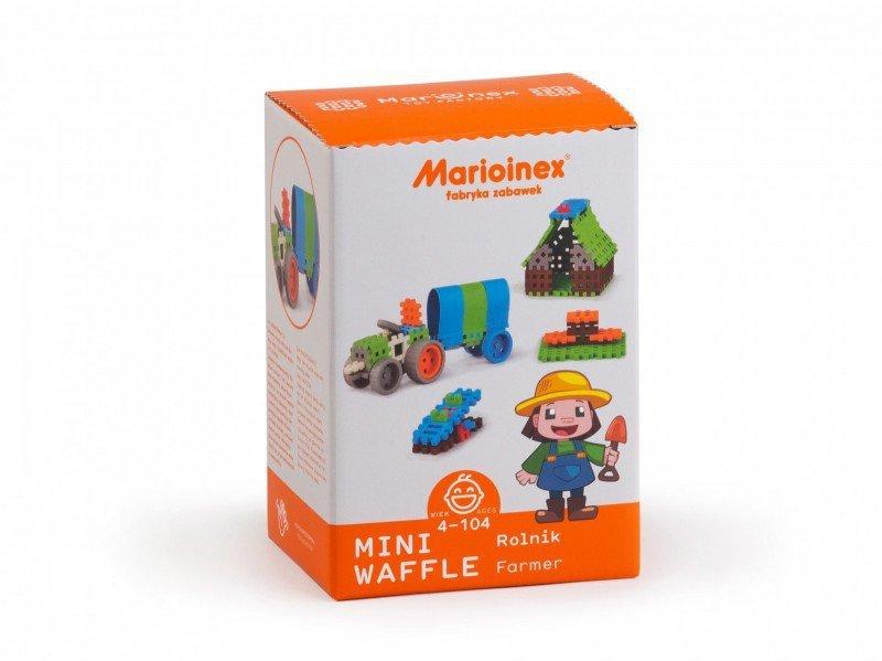 Marioinex Klocki konstrukcyjne Mini Waffle Rolnik Zestaw Średni
