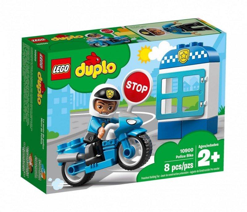 LEGO Klocki DUPLO Motocykl policyjny
