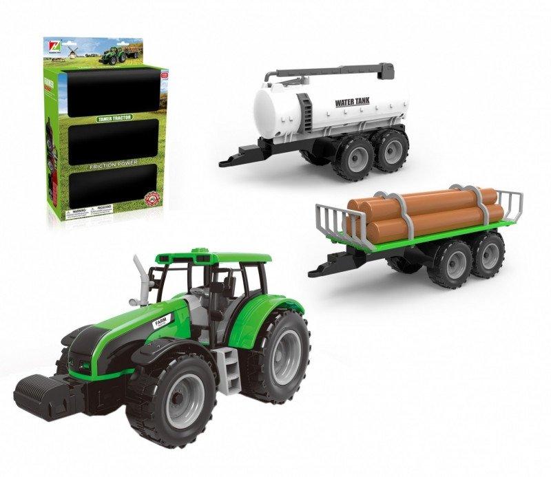 ASKATO Traktor z 2 przyczepami