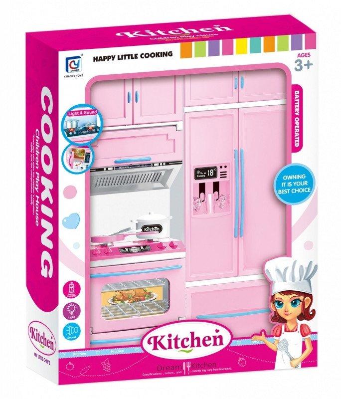 ASKATO Meble kuchenne z lodówką i piekarnikiem