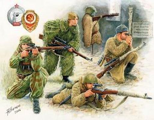 Zvezda Soviet Sniper Team WWII
