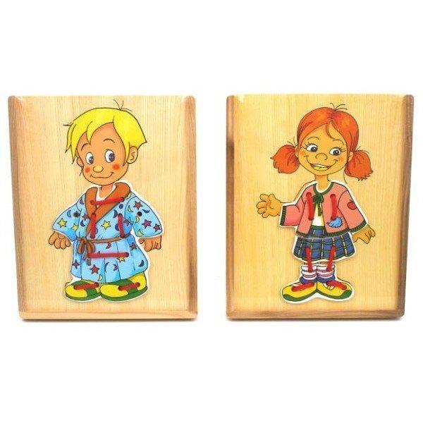 Brimarex Układanka Drewniana Dzieci-ubieranie