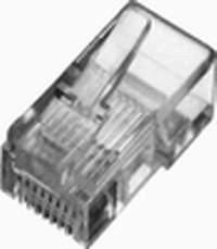 Wtyk RJ45 kat.5e uniwersalny drut/linka 8P8C 100szt