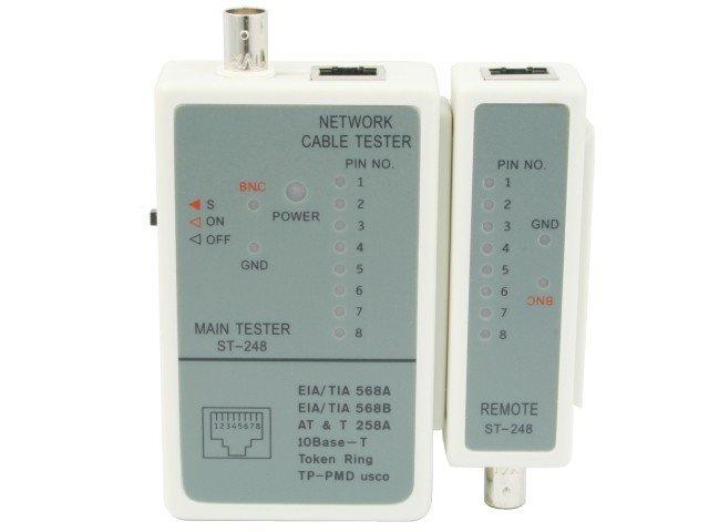Tester diodowy kabli RJ45, RG-58