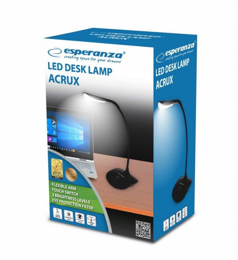 Lampka led biurkowa Acrux czarna