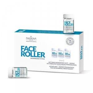 FARMONA FACE ROLLER Aktywny koncentrat anti-ageing do zabiegów mezoterapii mikroigłowej 5x5 ml