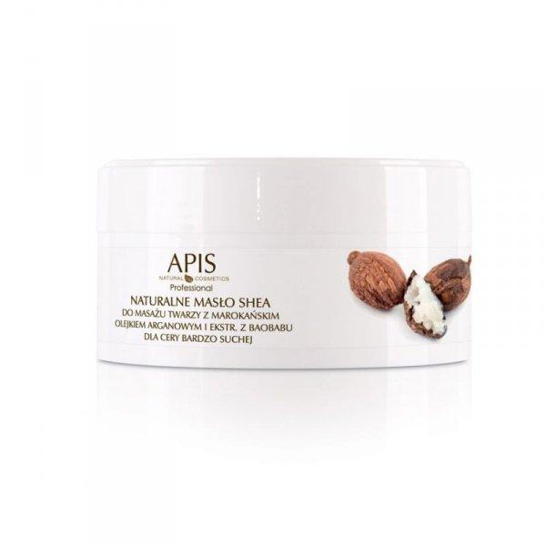 APIS Naturalne masło shea z olejkiem argan. do masażu twarzy 100g