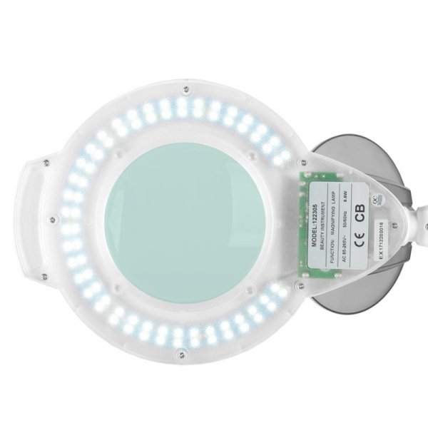 LAMPA LUPA LED AZZURRO H6001L - 5 i 8 DIOPTRII DO BLATU