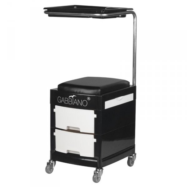 POMOCNIK - TABORET DO PEDICURE 16 PLUS BLACK/WHITE