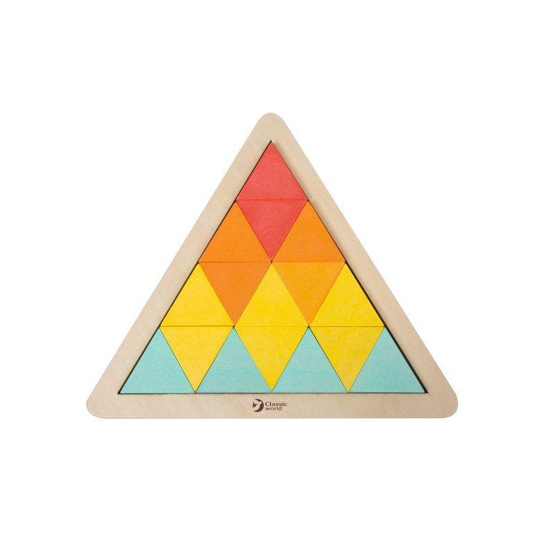 Układanka trójkąty Mozaika Klocki Classic World