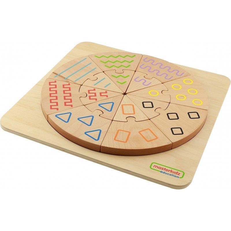Sortowanie Dotykiem i Wzrokiem - Sorter Wzorów Masterkidz Tabliczka Edukacyjna