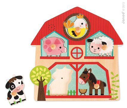 Puzzle muzyczne Mieszkańcy farmy www.tuliki.pl