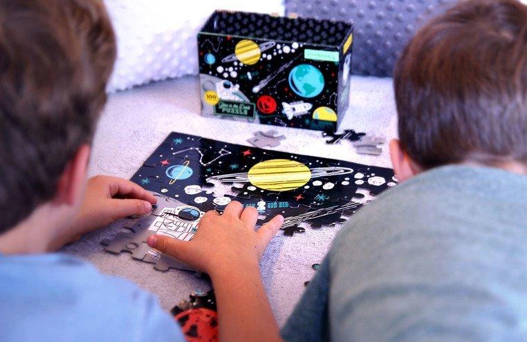 Mudpuppy Puzzle świecące w ciemności Kosmos 100 elementów 5+