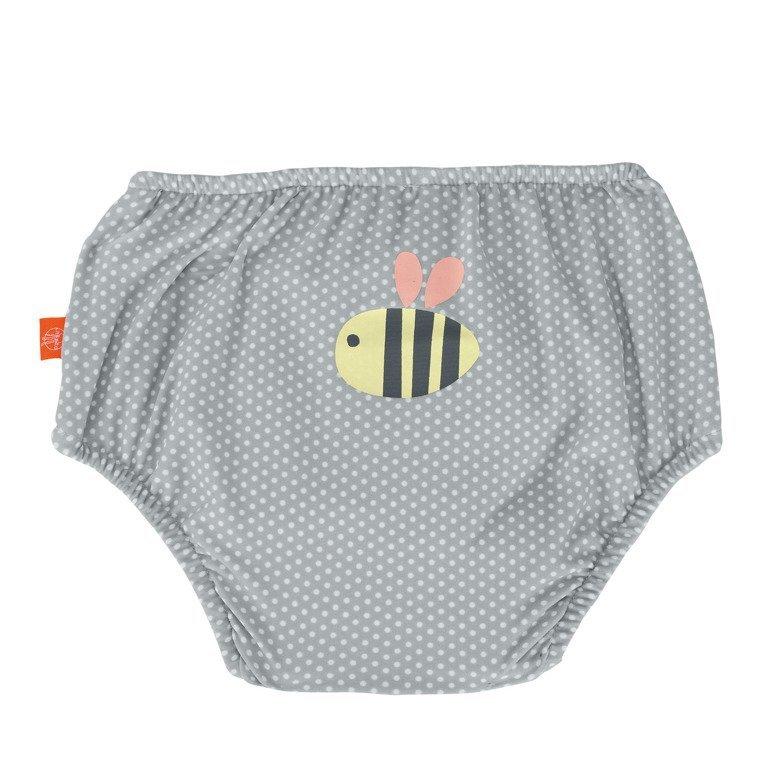 Lassig Kostium do pływania dwuczęściowy z wkładką chłonną Polka Dots grey UV 50+
