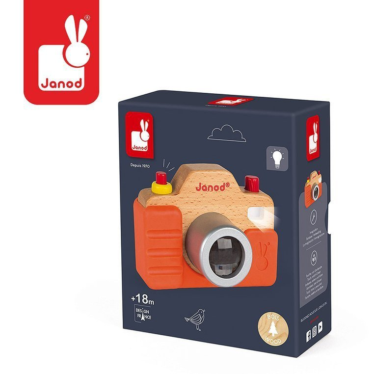 Drewniany aparat fotograficzny z dźwiękiem i lampą błyskową www.tuliki.pl